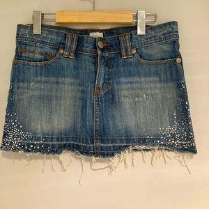 ELAN mini jeans skirt